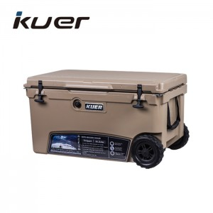 Kuer Cheap Rotomolded Large Cooler Box with Wheels
