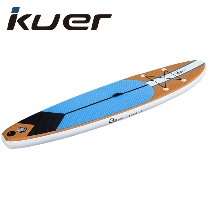 Wood color 11′ Double Layer Inflatable  SUP Featured Image